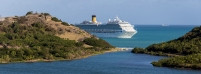Antigua's economy is totally dependant on vactioning crusie ships